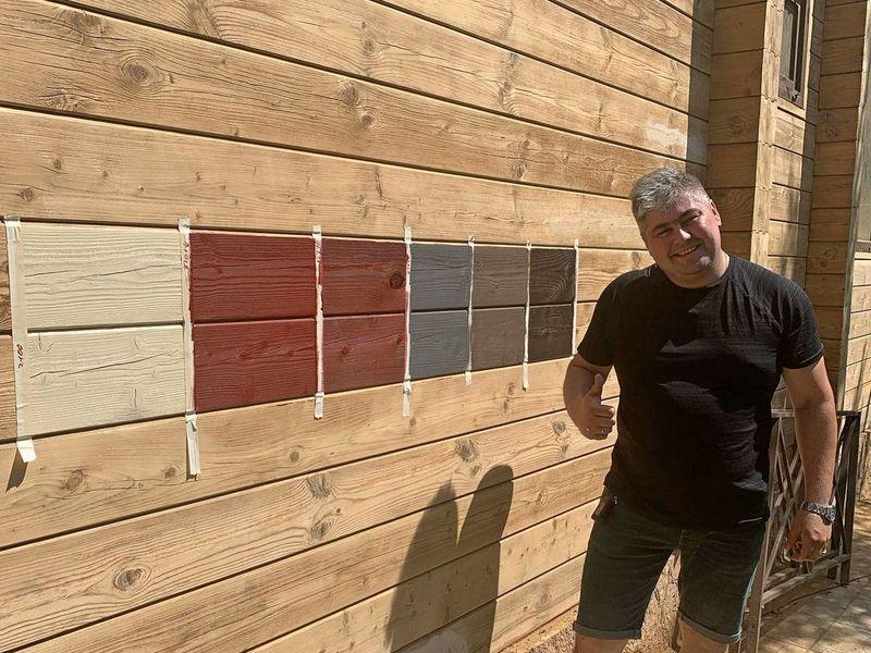 Подбор краски для фасада деревянного дома