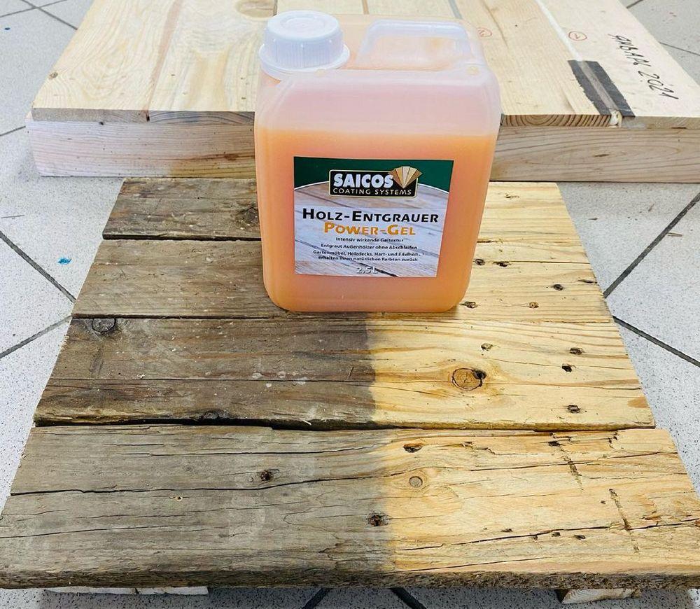 Средство для очистки посеревшей древесины Saicos Power Gel